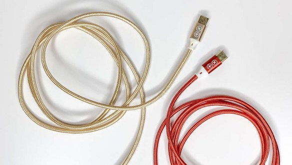Gold Red Cables USBC